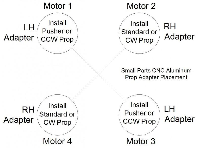 APC Props LP08045MR-B4 8x4.5 Multi Rotor Set 4